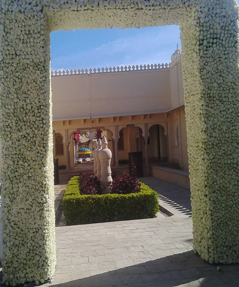 Floral decoration for a in wedding in Udaipur