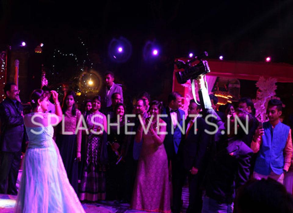 Wedding sangeet ceremony in Chomu Palace Jaipur