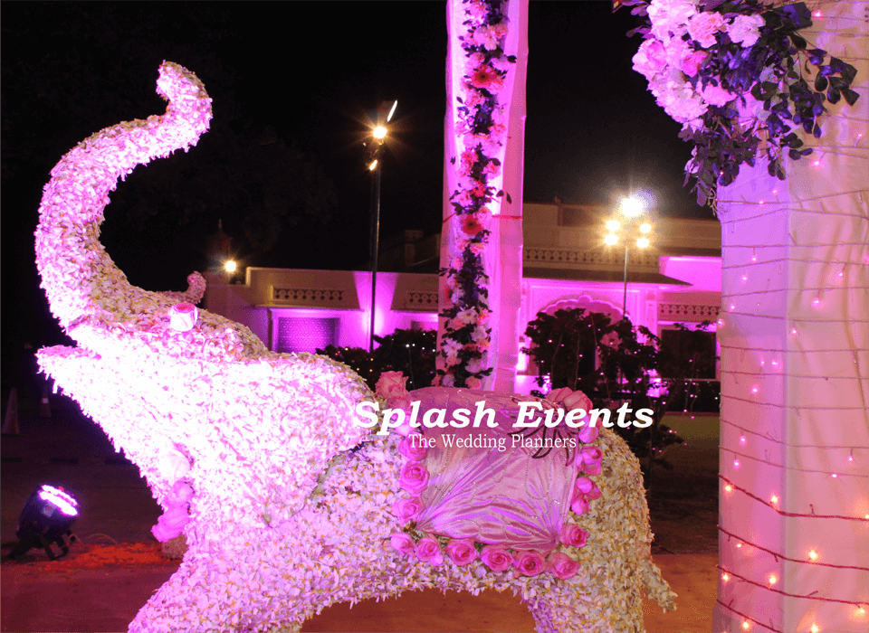 Floral decoration for a wedding in Taj SMS Convention Centre , Jaipur
