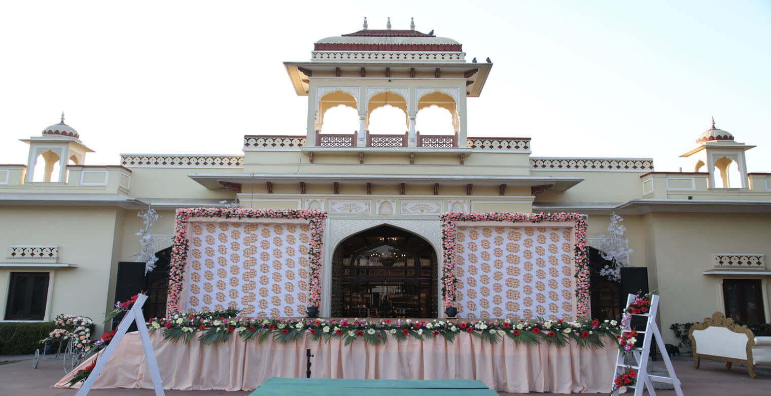 Wedding decoration in Jaipur's Taj Rambgah SMS Convention Centre